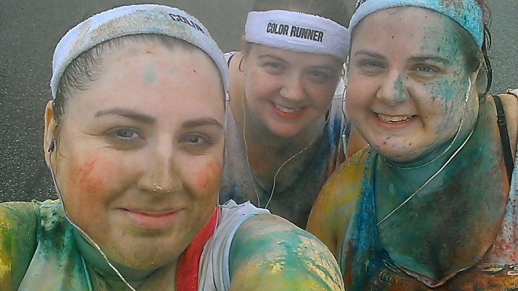 During the Color Run